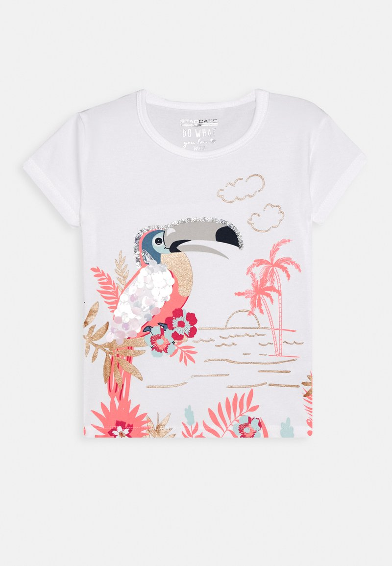 Staccato - KID - T-shirt con stampa - soft white