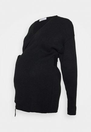 WRAP CARDIGAN - Neuletakki - black