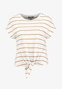 KIOMI - Print T-shirt - off-white/cognac - 3