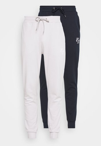 SIGNATURE 2 PACK - Tracksuit bottoms - navy/white