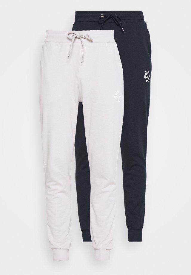 SIGNATURE 2 PACK - Pantalon de survêtement - navy/white
