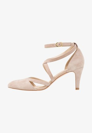 LEATHER - Klassiske pumps - nude
