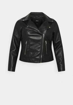 MMERLE JACKET - Faux leather jacket - black