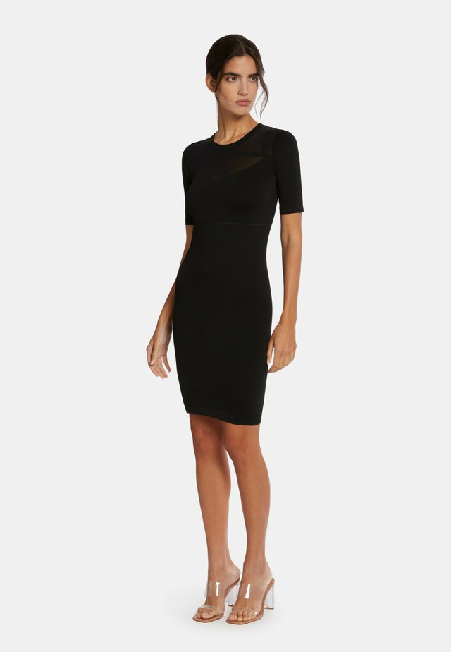 GAIA - Robe fourreau - black/black