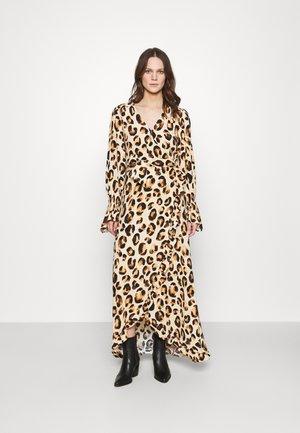 TASH DRESS - Robe longue - beige/black/brown
