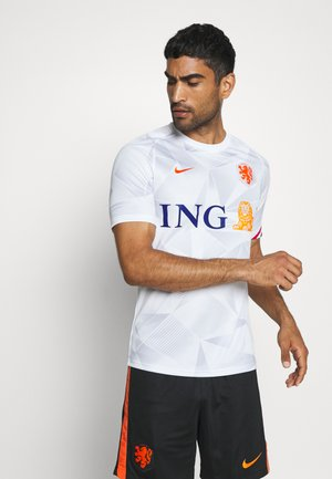 NIEDERLANDE KNVB - Landslagströjor - white/safety orange