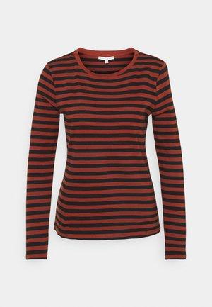 Maglietta a manica lunga - rust/black