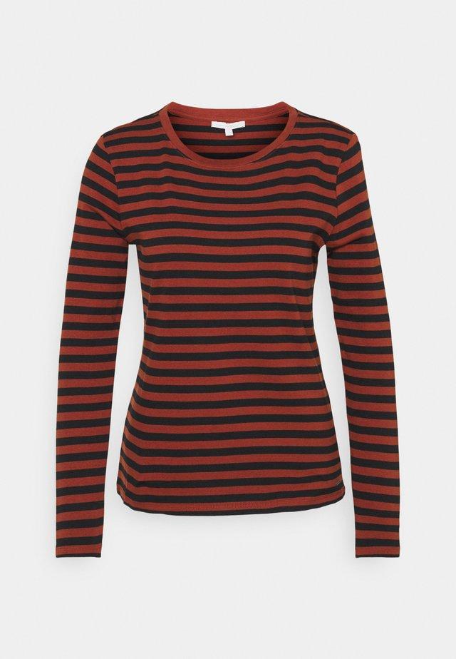Long sleeved top - rust/black