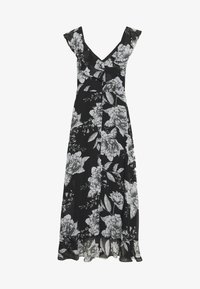 Wallis - LINEA FLORAL RUFFLE DRESS - Day dress - black - 0