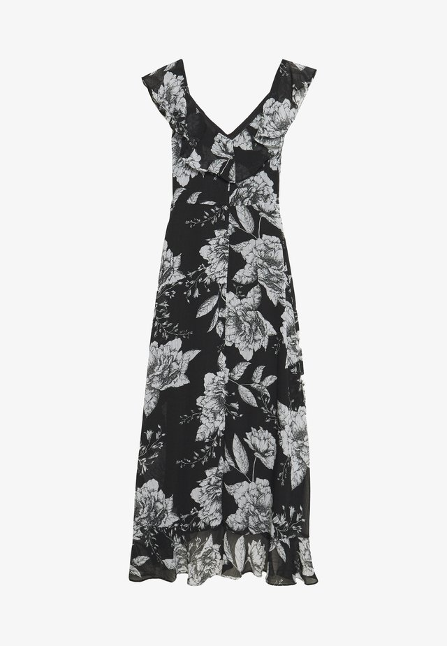 LINEA FLORAL RUFFLE DRESS - Vestido informal - black