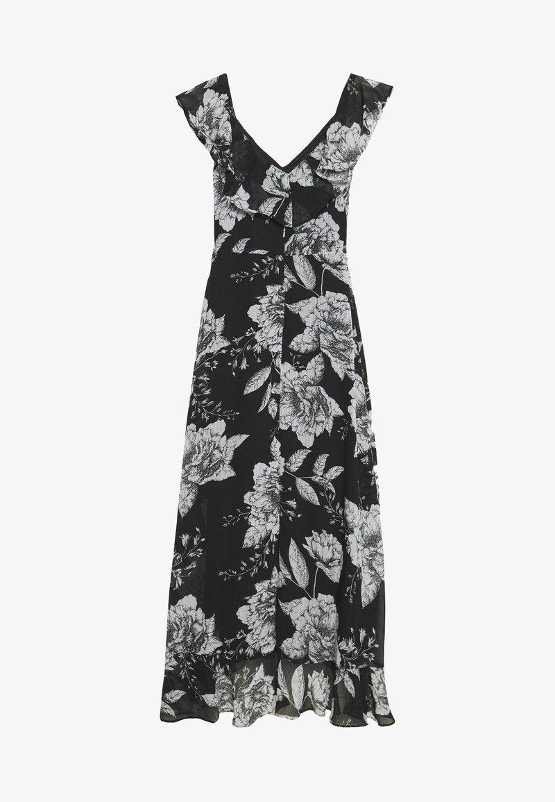 Wallis - LINEA FLORAL RUFFLE DRESS - Day dress - black