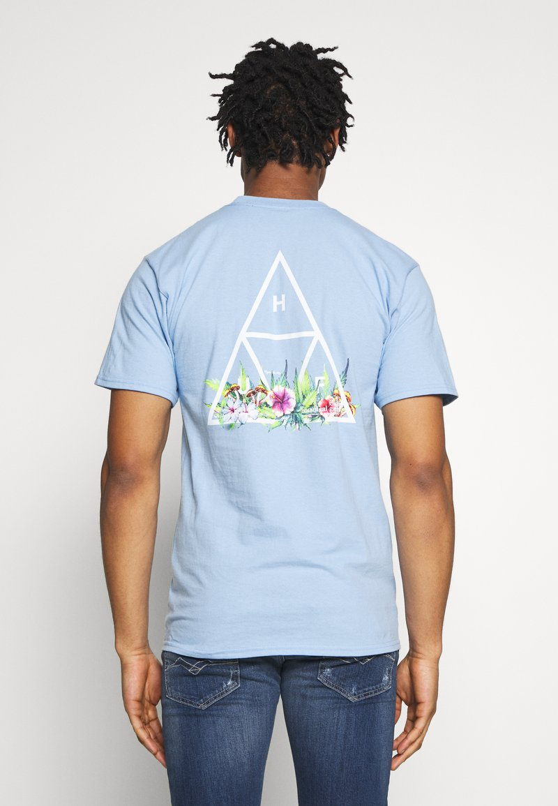 HUF - BOTANICAL GARDEN TEE - T-shirt print - light blue