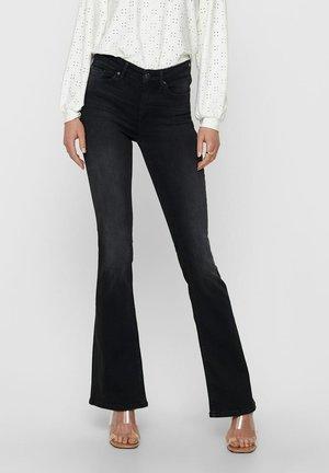 MID RISE ONLBLUSH LIFE - Jeans a zampa - black