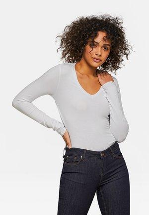 WE FASHION DAMENSHIRT AUS BIO-BAUMWOLLE - Long sleeved top - white
