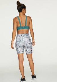OYSHO - FLORAL PRINT CYCLE SHORTS - Sports shorts - white - 1