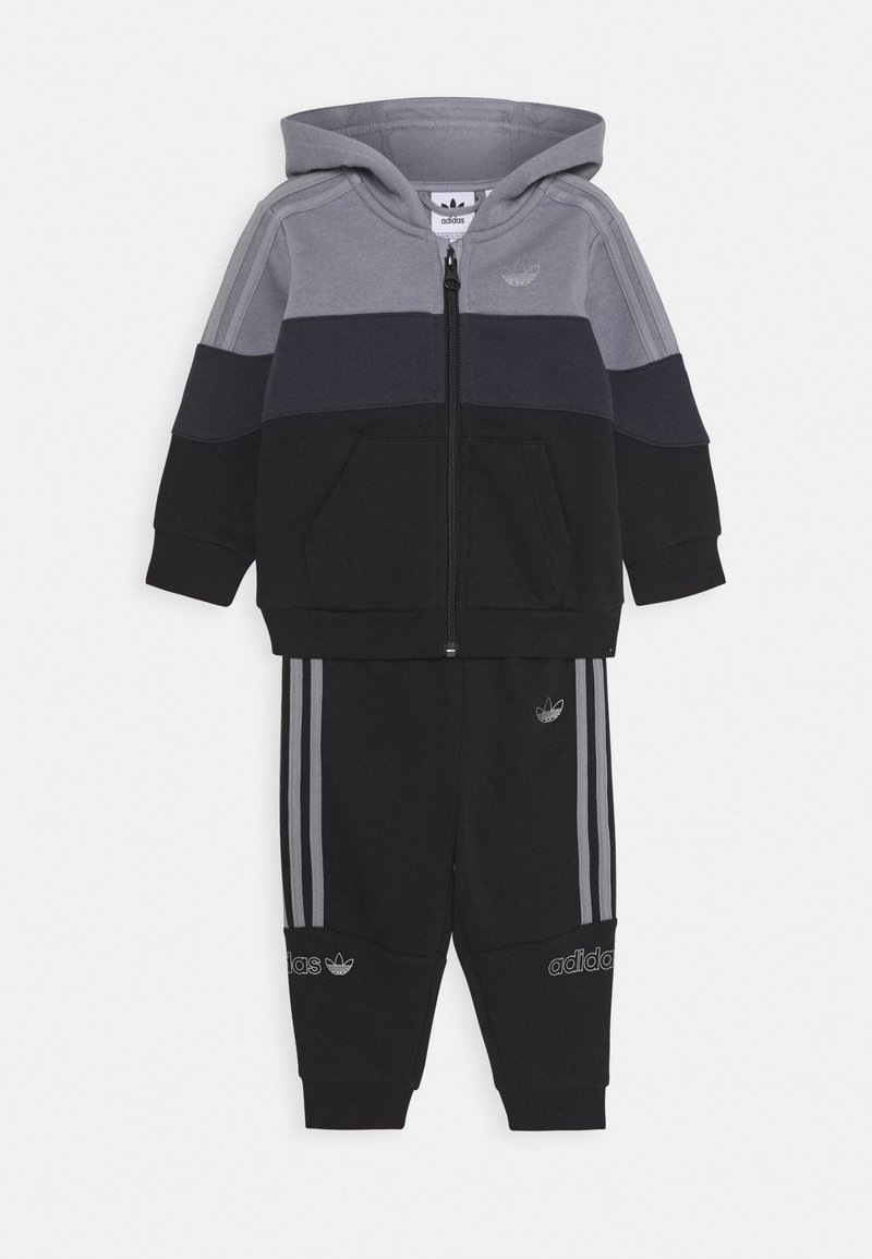 adidas Originals - HOODIE SET - Træningssæt - grey/black