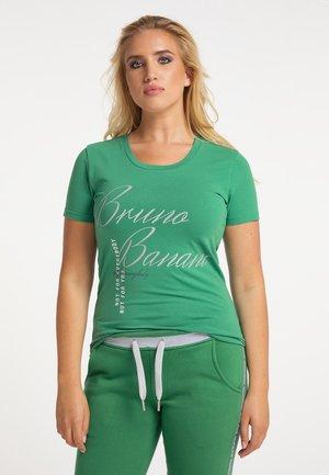 T-shirt print - piniengrün