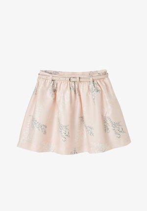 A-line skirt - zartrosa bedruckt