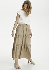 Kaffe - KAMOLLY - Maxi skirt - classic sand - 1