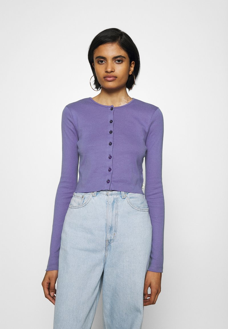 BDG Urban Outfitters - BUTTON DOWN CARDIGAN - Cardigan - violet