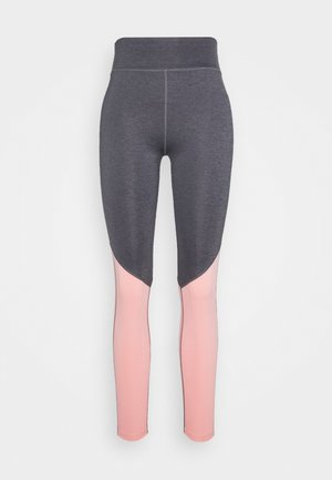 Tights - grey/pink_rose