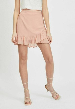 VISELENE WRAP - Wrap skirt - misty rose