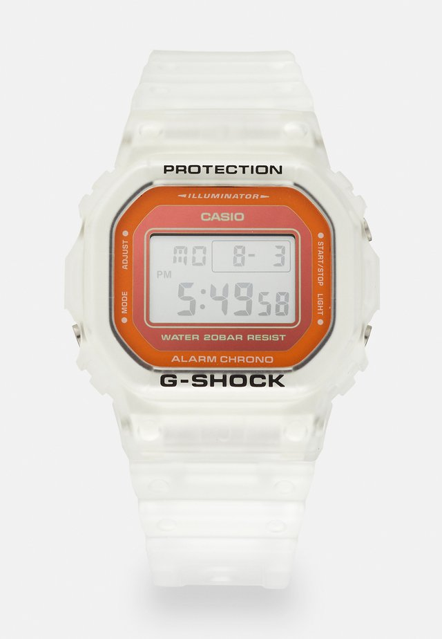 SKELETON - Digital watch - transparent/orange