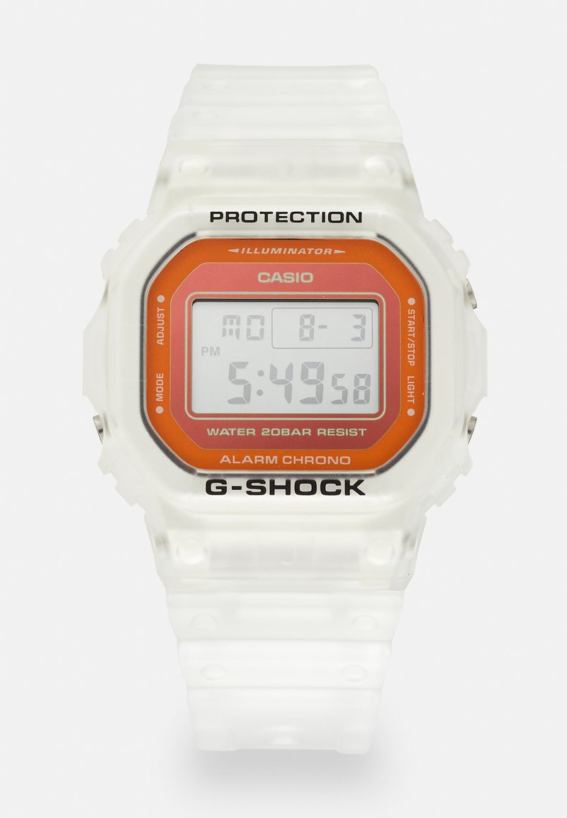 G-SHOCK - SKELETON - Digital watch - transparent/orange