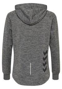 Hummel - HMLSELBY - Bluza z kapturem - dark grey melange - 1