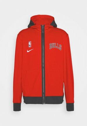 NBA CHICAGO BULLS THERMAFLEX SHOWTIME FULL ZIP HOODIE - Club wear - university red/black/white