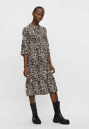 Day dress - black/light brown
