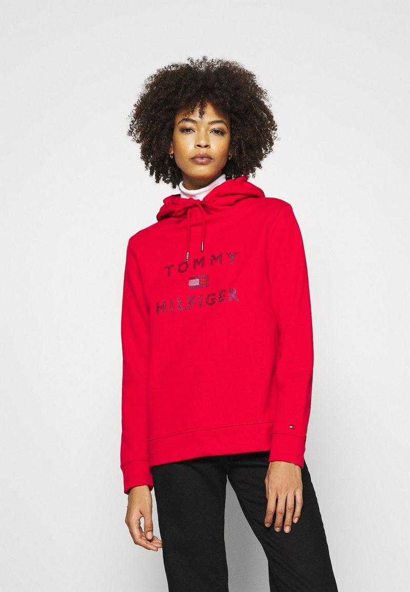 Tommy Hilfiger - TIARA HOODIE  - Sweat à capuche - primary red