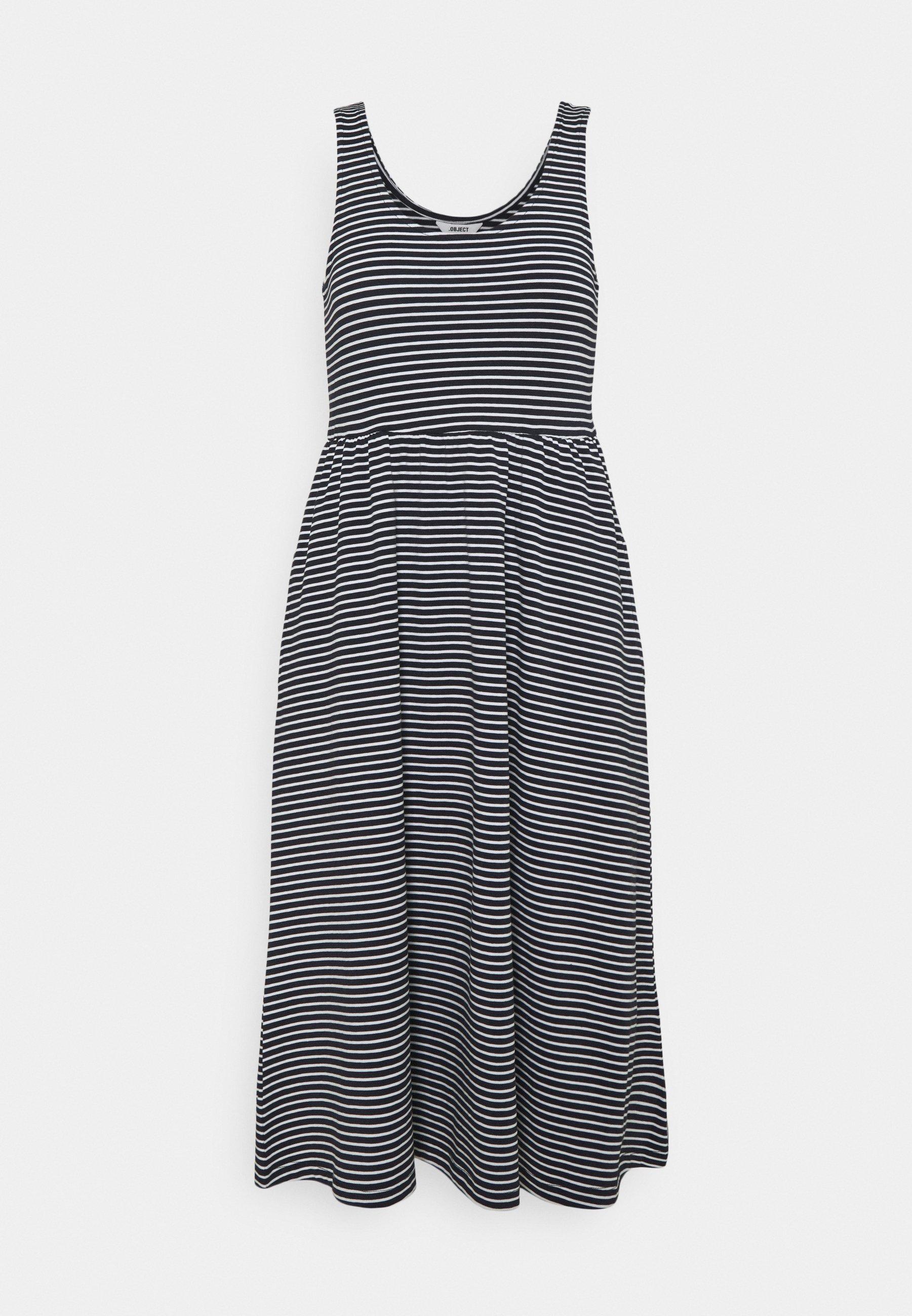 Women OBJSTEPHANIE MIDI DRESS  - Jersey dress