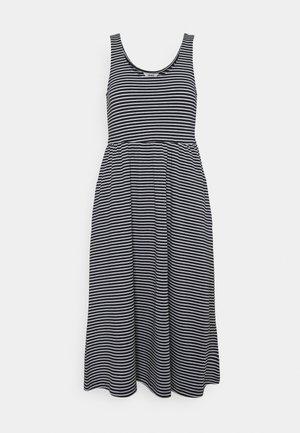 OBJSTEPHANIE MIDI DRESS  - Jersey dress - white/sky captain