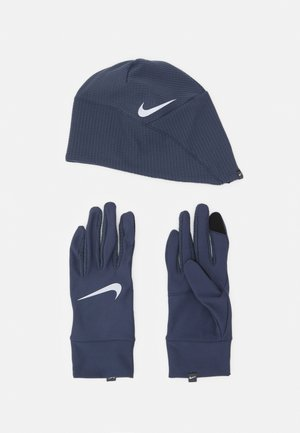 MEN'S RUN DRY HAT AND GLOVE SET - Gloves - thunder blue/particle grey/silver