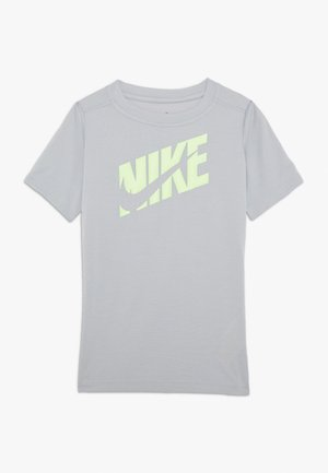 T-shirt con stampa - light smoke grey/ghost green