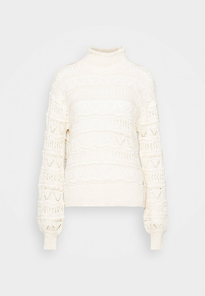Cream - CRISALA TURTLENECK - Jumper - seedpearl