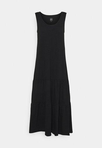 TIERED MAXI - Jersey dress - true black
