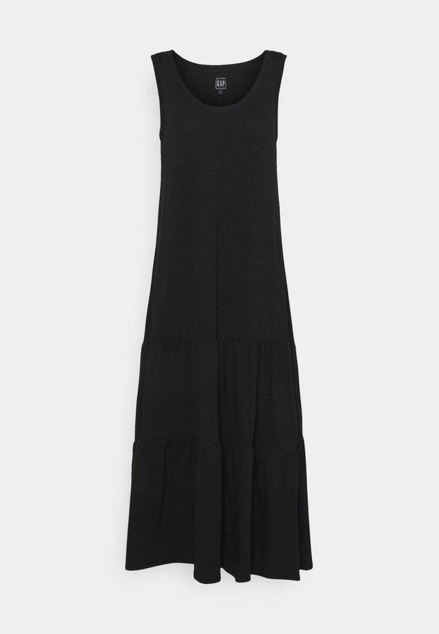 TIERED MAXI - Vestito di maglina - true black