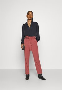 Morgan - OCHICHI - Button-down blouse - marine - 1