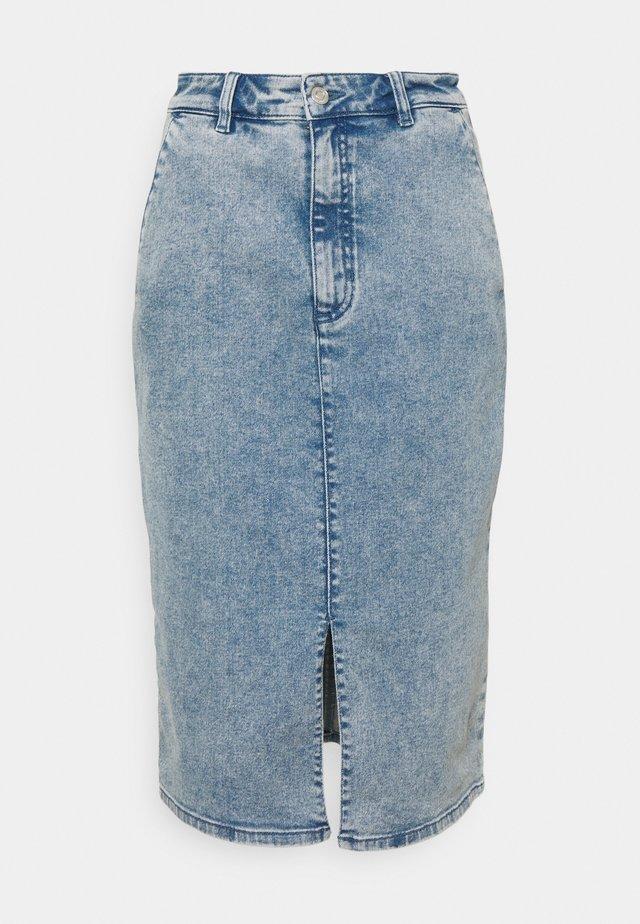 GYOZA - Denimová sukně - turquoise/aqua