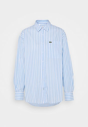 Button-down blouse - nattier blue/white