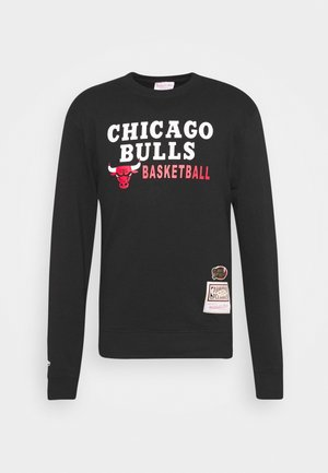 NBA CHICAGO BULLS PRINT CREW - Club wear - black