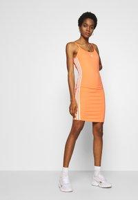 adidas Originals - TANK DRESS - Pouzdrové šaty - semi coral/white - 1