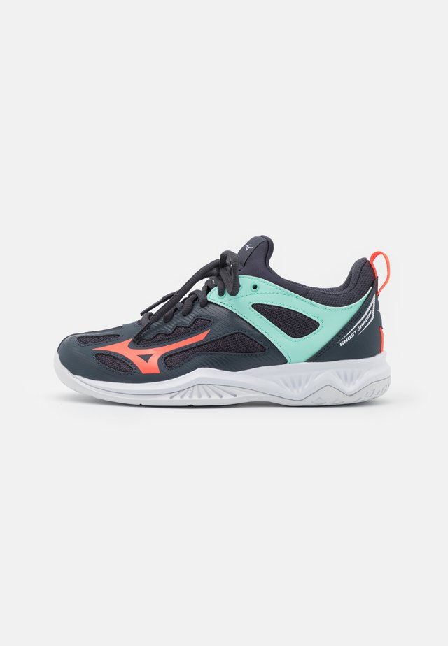 GHOST SHADOW - Handball shoes - india ink/fiery coral/ice green
