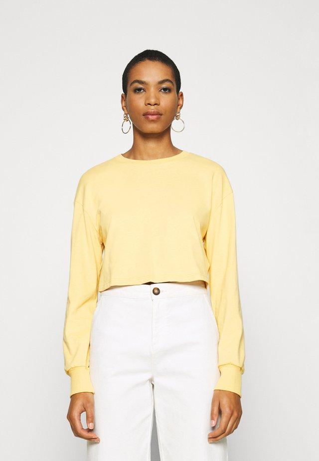 Botanical dyed - Långärmad tröja - light yellow