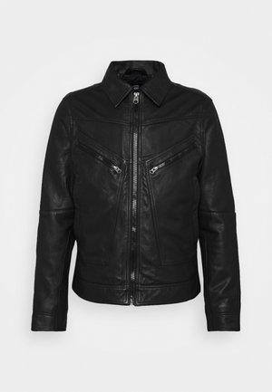 FLIGHT - Leren jas - black