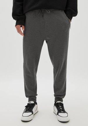 BASIC-JOGGERHOSE AUS PIKEE - Pantaloni sportivi - grey