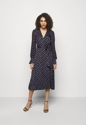 TETRIS PRINTED WRAP DRESS - Day dress - black