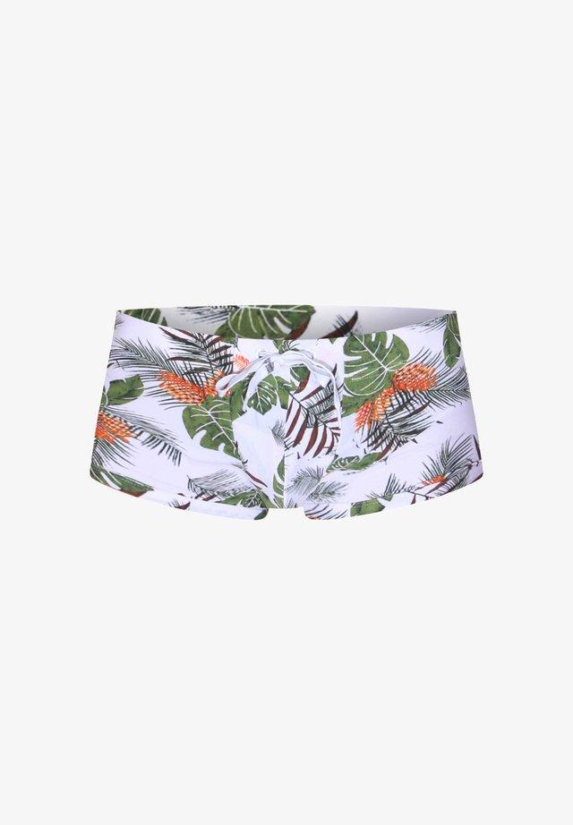 Swimming trunks - weiss/grün